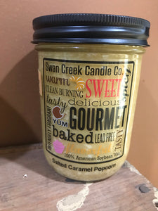 Swan Creek Salted Caramel Popcorn 12 oz Pantry Jar Candle