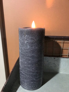 Flameless Battery-Operated Timer Pillar Candle