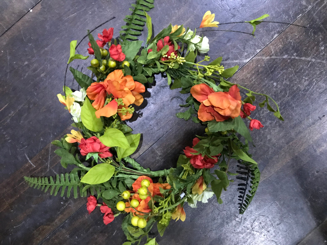 Mixed Floral Candle Ring or Wreath