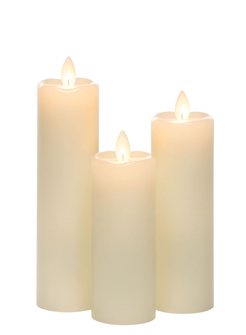 Slim Pillar Set of 3