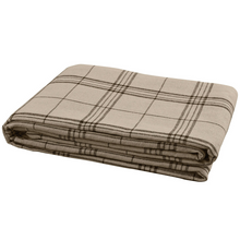 Load image into Gallery viewer, Fieldstone Plaid Black Queen Bedspread Coverlet