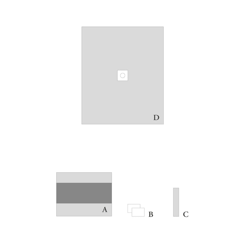 Perforated drape set for minor procedures -14 pcs.-