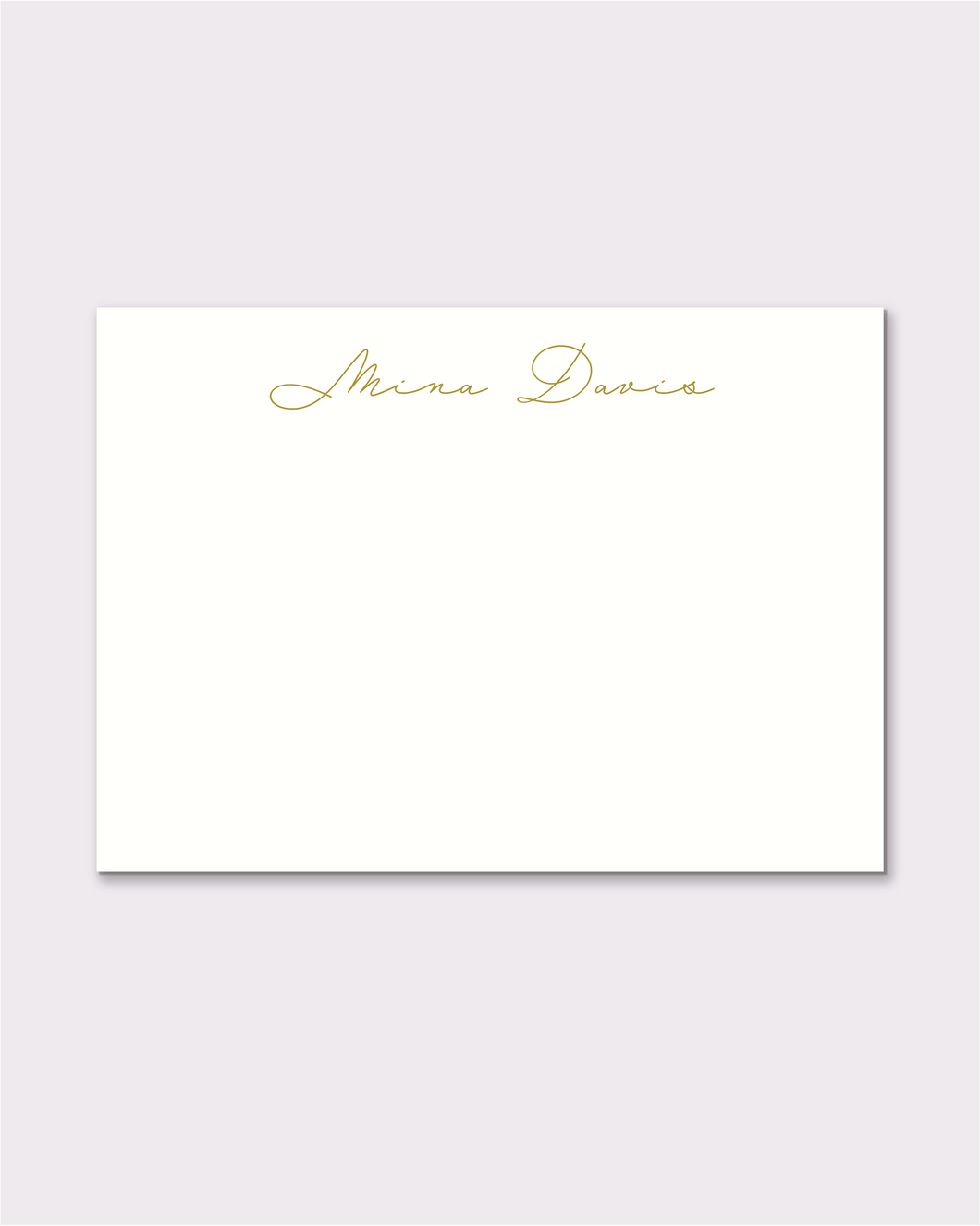 Custom notecards - Mina Style, 50 pack