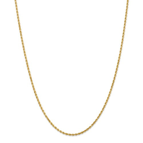 2mm 14K gold Rope Chain