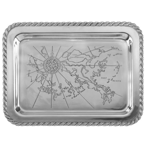 Cast Aluminum Large Gulf Shores Tray