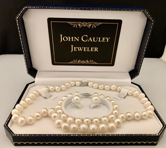 8.5-9.5 MM Freshwater Pearl Set