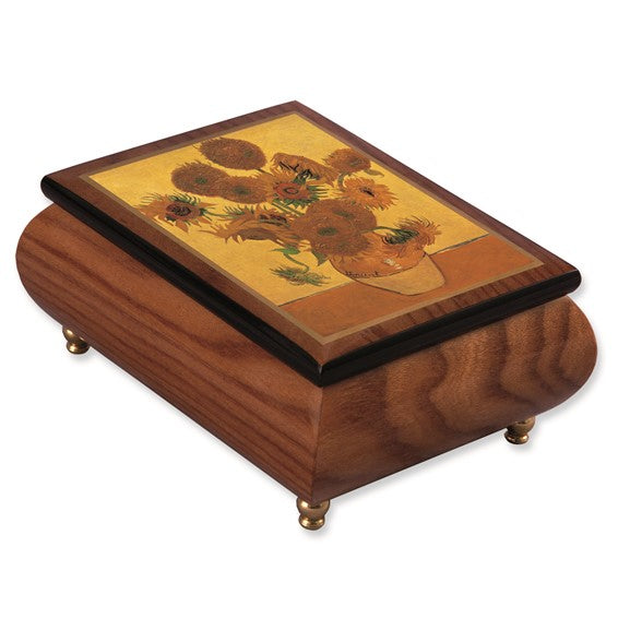 Van Gogh Sunflowers Masterpiece Music Box
