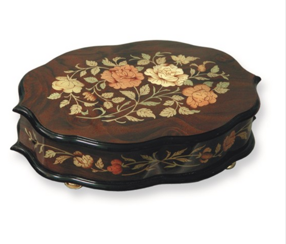 Floral Inlay Music Box