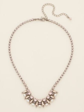 Freshwater Pearl Pave Necklace