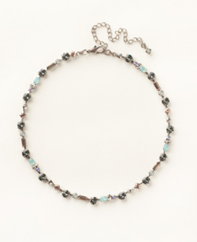 Geometric Crystal Line Necklace