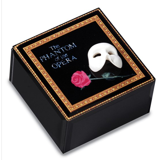Phantom Mask and Rose Glass Music Box