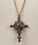 Celestial Cross Pendant Necklace