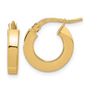 14k 3mm Hoop Earrings