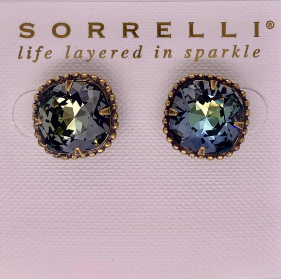 Sorrelli Cushion-Cut Solitaire Stud Earrings