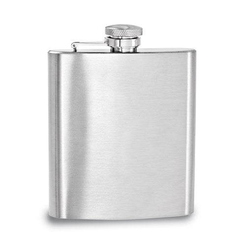 Brushed Stainless Steel 8oz Square Flask