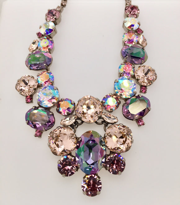 Multiple Shapes Bib Statement Necklace