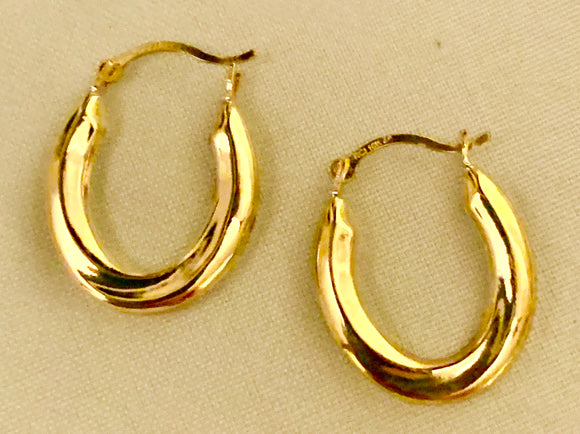 10 Yellow Gold Hoops