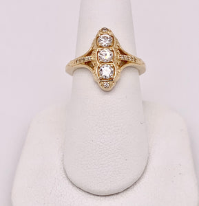 10K Gold and Moissanite Fashion Ring