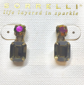 Sorrelli Crystal Octagon and Round Post Earrings