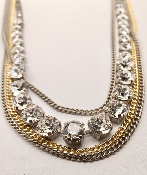 Sorrelli Layer It On Multi-Strand Layered Necklace