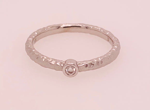 White Gold Diamond Band by PeJay