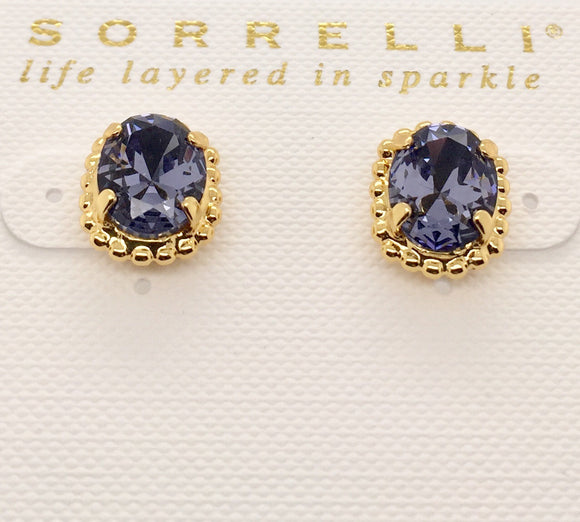 Sorrelli Oval-Cut Solitaire Earrings
