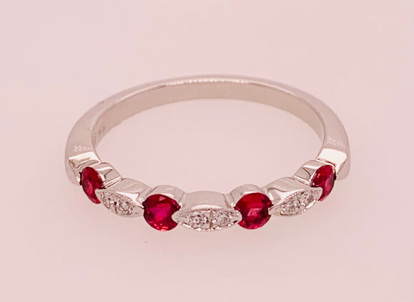 Ruby and Diamond Band by PeJay Creations