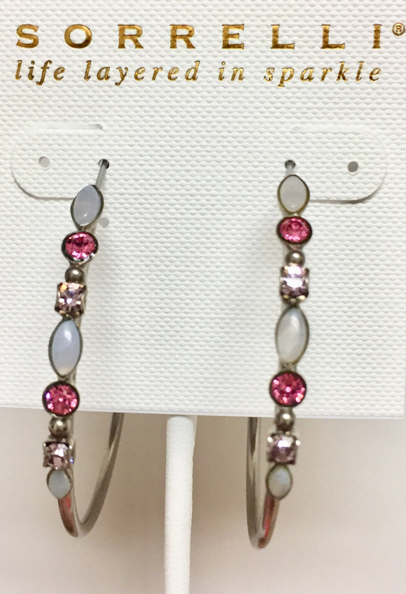 Sorrelli Mixed Media Hoop Earrings