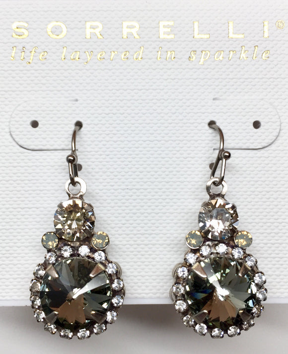 Sorrelli Embellished Rivoli Dangle Earrings