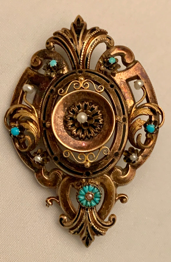 14K Estate Brooch