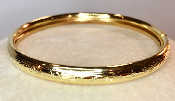 Gold Filled Child's Bangle Bracelet
