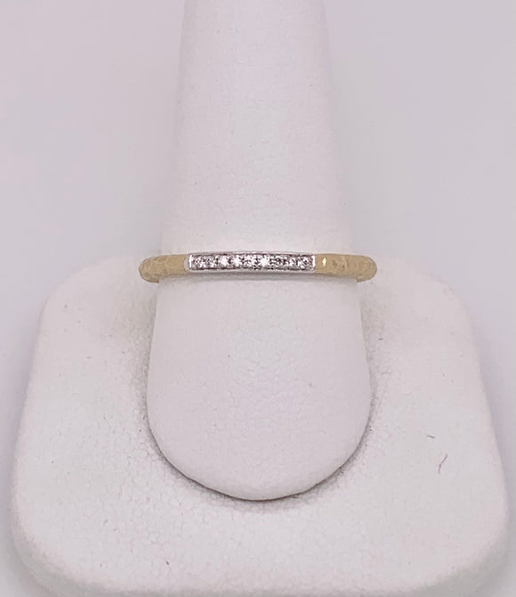 Yellow Gold and Diamond Band by PeJay Creations
