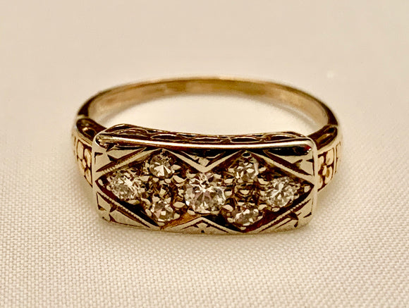 14K Diamond Estate Ring