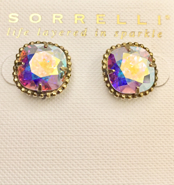 Sorrelli Cushion-Cut Solitaire Earrings