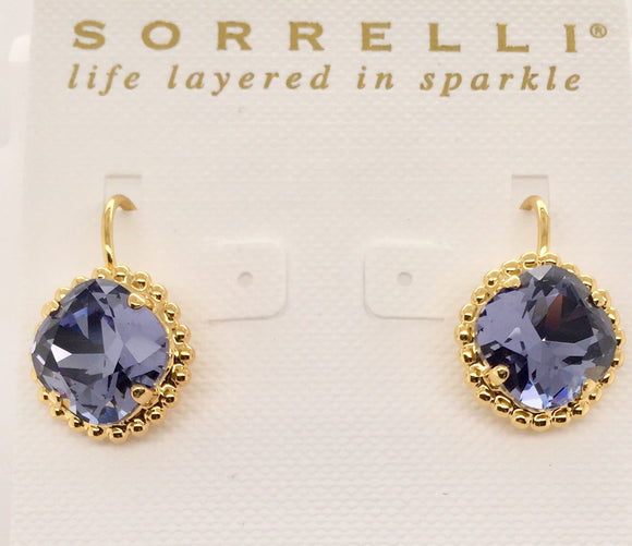 Sorrelli Decorative Cushion Cut Earrings