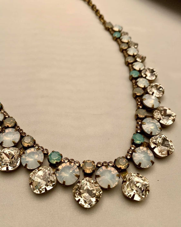 Sorrelli Cushion Cut Crystal Statement Collar Necklace