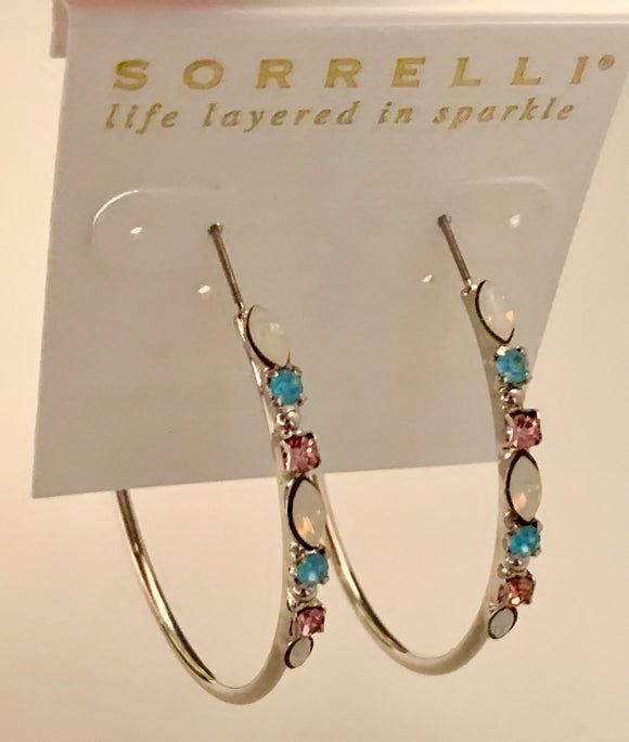 Sorrelli Large Mixed Media Hoop Earring