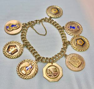 Estate Gold Filled Charm Bracelet