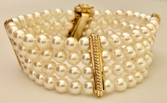 Estate Cultured Pearl Bracelet
