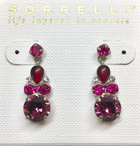 Sorrelli Round and Pear Crystal Post Earrings