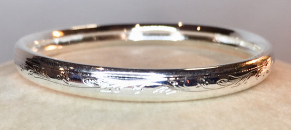 Sterling Silver Infant Bangle Bracelet