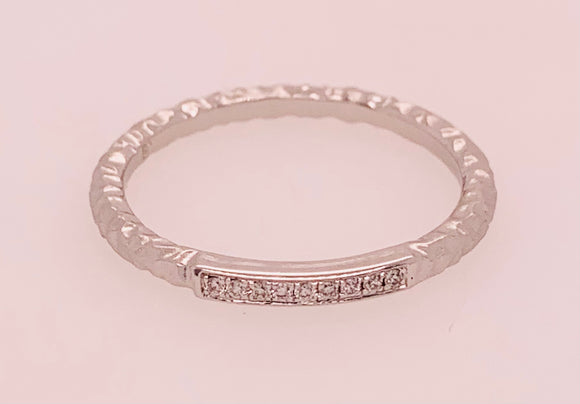 White Gold and Diamond Band by PeJay Creations