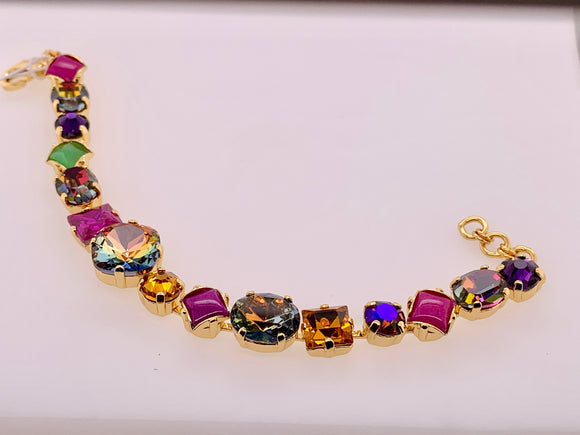 Bold Multi Shaped Crystal Bracelet