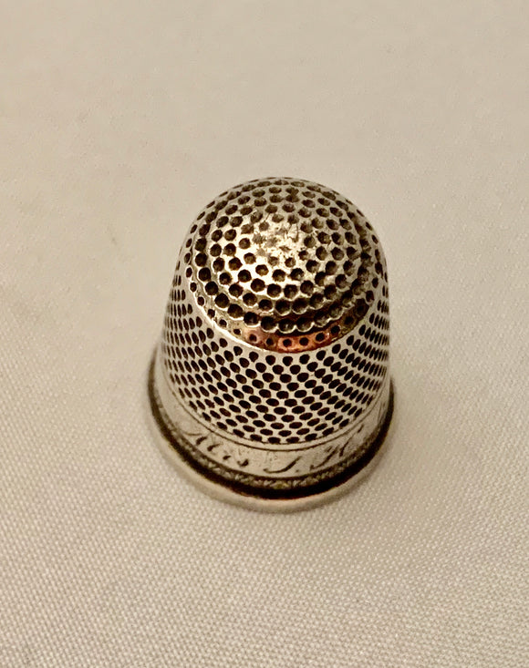 Estate Sterling Silver Thimble