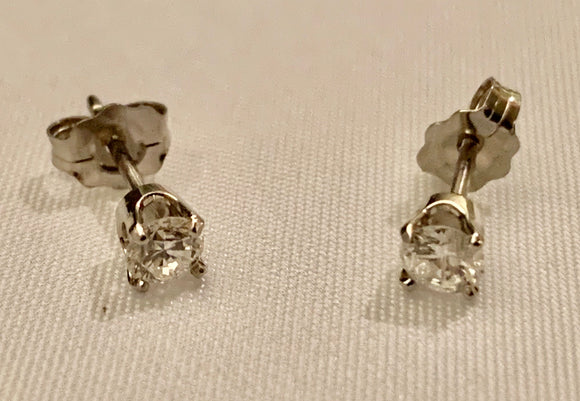 1/4 Carat Diamond Earrings
