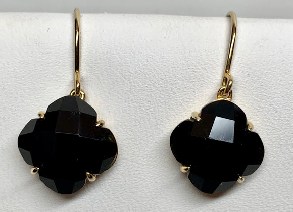 14K Black Onyx Earrings