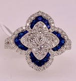 Sapphire & Diamond Fashion Ring