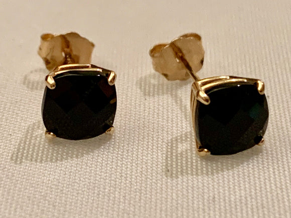 14K Black Onyx Earring