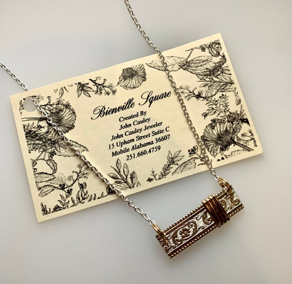 """Bienville Square"" Bar Necklace"