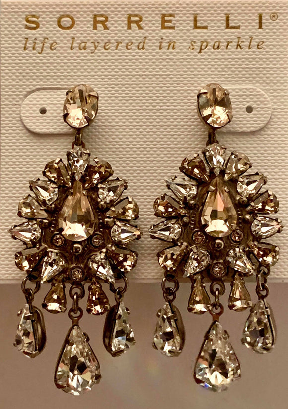 Sorrelli Dripping In Crystals Chandelier Earrings